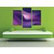 Három részes vászonkép - Purple curves abstract - absztrakt vászonkép 3a-100371
