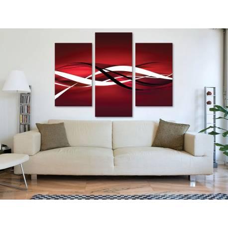 Három részes vászonkép - Red abstraction - absztrakt vászonkép 3a-100424