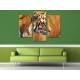 Három részes vászonkép - Tiger Watching - Tigris - vászonkép 3a-100484