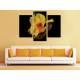 Három részes vászonkép - Canna Yellow - Sárga Virág - Vászonkép 3a-100493