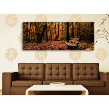 Autumn silence - csendes ősz vakrámára feszített vászonkép 100186