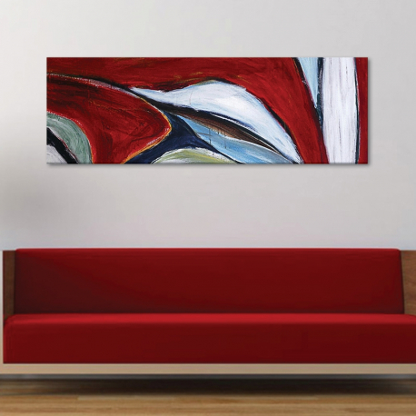 Painted part abstract - - vászonkép
