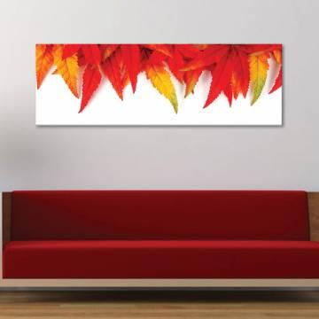 Autumn leaf pattern - õszi levelek - vászonkép