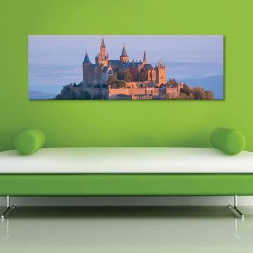 Castle on peak kastély - vászonkép