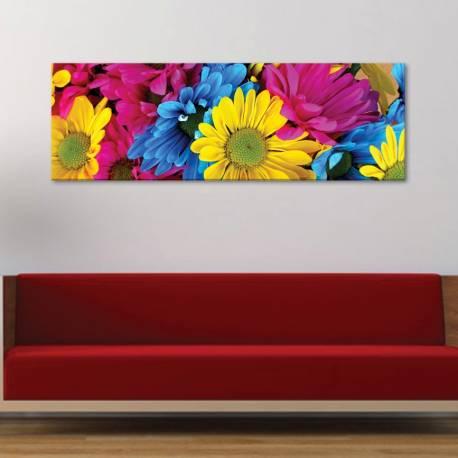 Play of colors - színes virágok - vászonkép