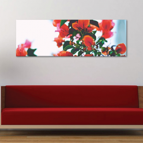 Red blur - virágok - vászonkép