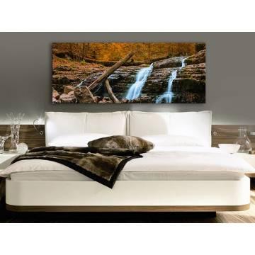 Waterfall in forest - erdei vízesés vászonkép 100242