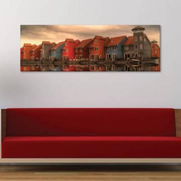 Colours houses - színes építészet vászonkép