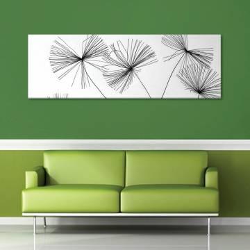 Thread dandelion - pittypang cérnából vászonkép