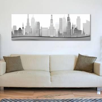 City in grey - Város szürkében vászonkép