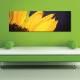 Balck and yellow - Tüzes napraforgó vászonkép