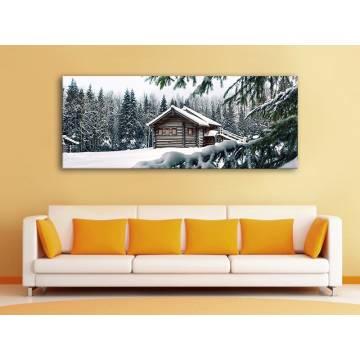 Cottage in the woods - erdei ház vászonkép 100258