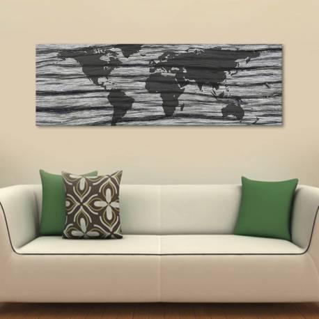 Worldmap in black and white - Világatlasz vászonkép