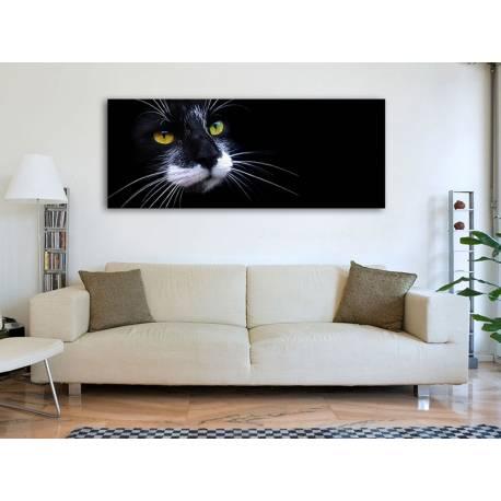 I'm watching you - figyellek - fekete macska vászonkép 100262
