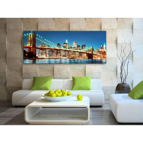 New york night lights - New York fényei vászonkép 100267