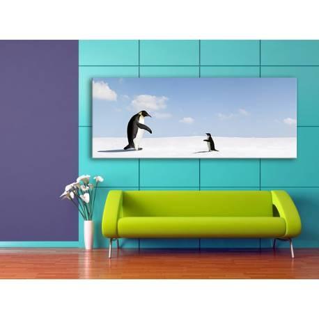 Come back - pingvinek vászonkép 100283