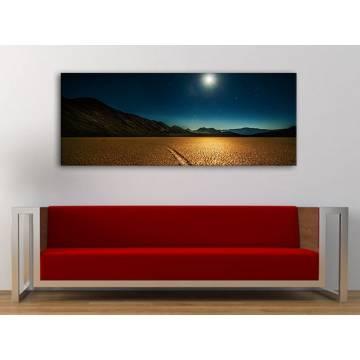 Beautyful lights in night - az éjszaka fényei a sivatagban vászonkép 100296