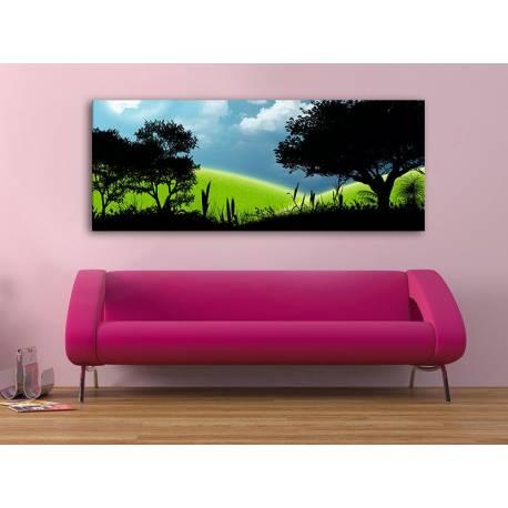 Modern meadow silhouette - modern rét vászonkép 100304