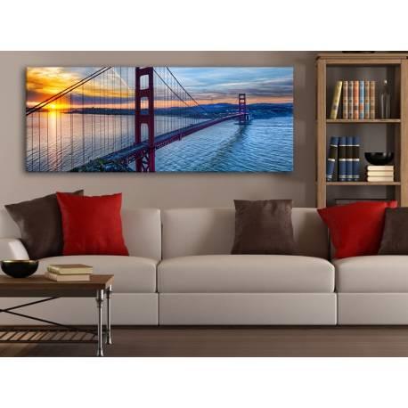 Golden Gate Sunset - Naplemente és a Golden Gate híd vászonkép 100319