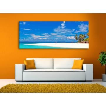 Just relax - pálmafák és tengerpart vászonkép 100332