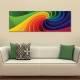 Color spiral 3D - Színes 3D spirál - vászonkép