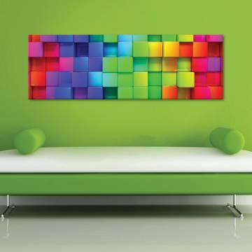 Cubes 3D - kockák - vászonkép