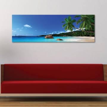 Palm relaxing - pálmafák és pihenés - vászonkép