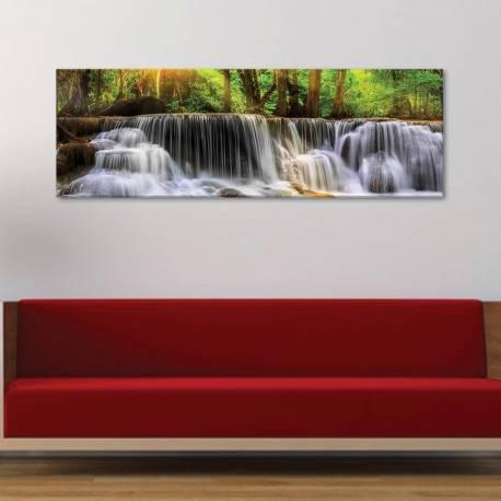 Waterfal in the forest - vízesés az erdõben - vászonkép