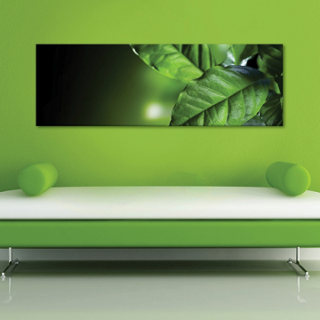 Green leaves - zöld levelek - vászonkép