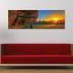 Meadow rays - naplemente - vászonkép