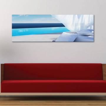 White relax beach - pihentetõ tengerpart - vászonkép