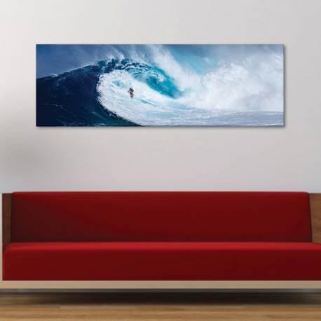 Brave surfer - Szörf a hullámokon - vászonkép