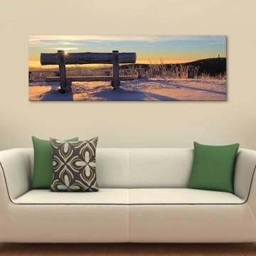 Peaceful winter - békés téli tájkép - vászonkép