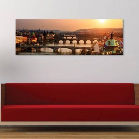 Prague skyline - Prága - vászonkép