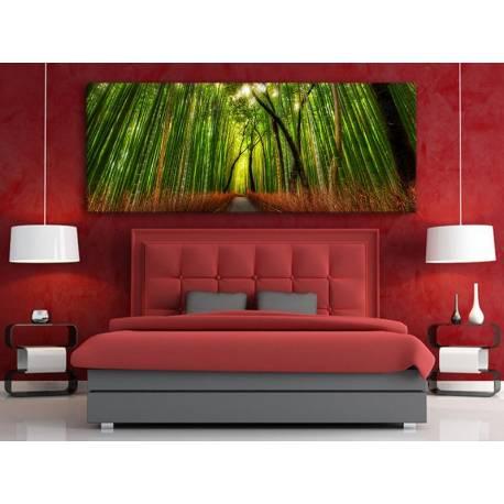Fabulous bamboo forest - mesés bambusz erdő vászonkép 100385