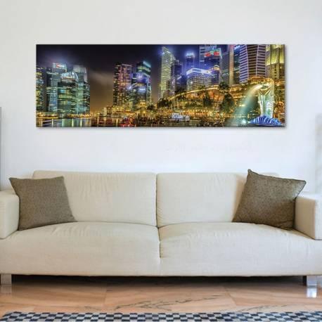 Singapore lights - Szingapur fényei - vászonkép