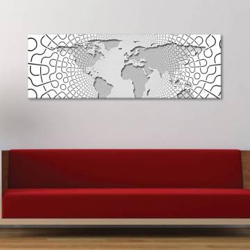 Textured map - minázott térkép - vászonkép