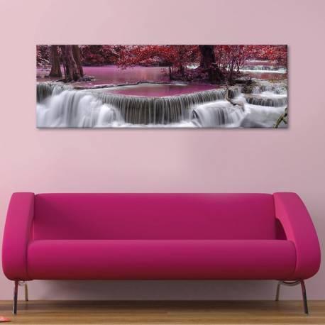 Pink waterfall - rózsaszín vízesés - vászonkép