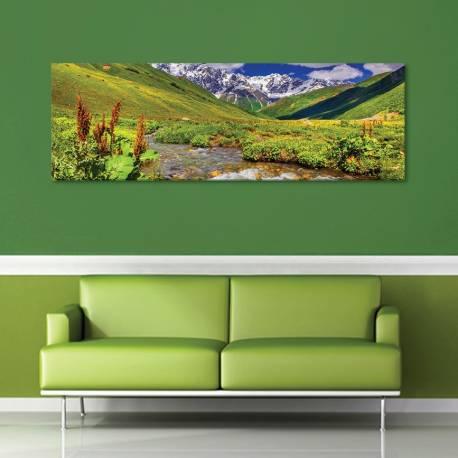 Mountains and stream - hegyi patak - vászonkép