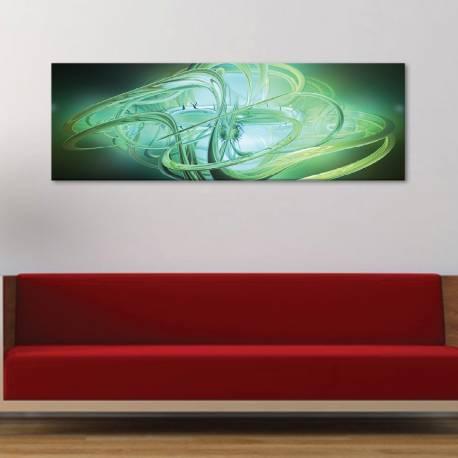 Green abstract 3D - absztrakt - vászonkép