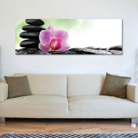 Orchid spa and relax - orcidea jade kõ - vászonkép