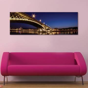 Night lights & bridge - éjszaka fényei - vászonkép