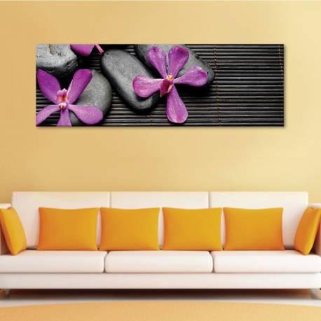 Orchid stones - orchideák és kövek - vászonkép