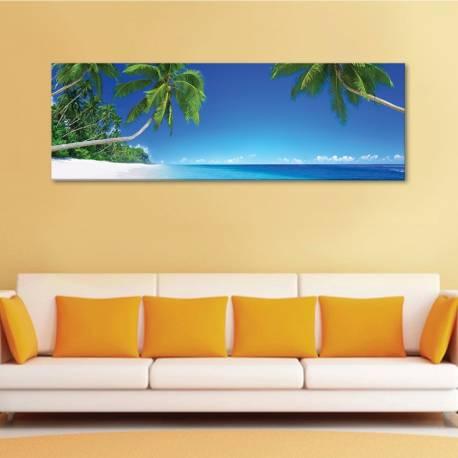 Beach palms and the sand - pálmafák homok és tengerpart - vászonkép