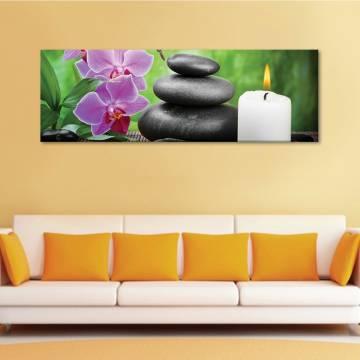 Relaxing spa orchids lights - orchidea feng shui - vászonkép