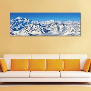 Mountain under snow - Havas hegyek - vászonkép