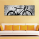 Vintage bicycle - Pattanj nyeregbe - vászonkép