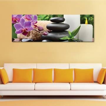 Black stone - Orhidea - vászonkép