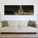 Paris Eiffel at night - Párizs Eiffel torony - vászonkép
