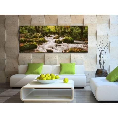 Stream in green - Erdei Patak vászonkép 100454